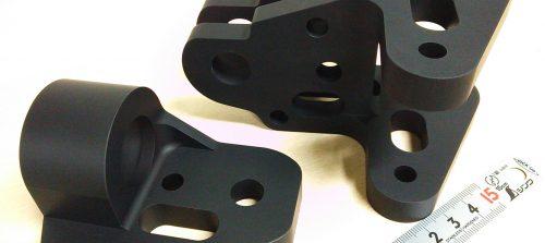 アルミ/A7075/YH75/ロボット部品/特殊形状加工+艶消しアルマイト