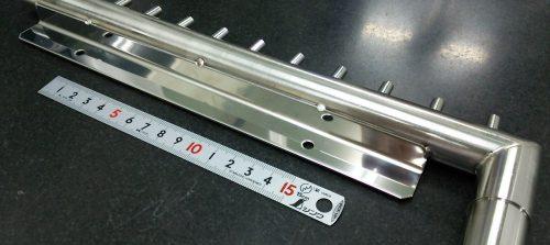 ステンレスパイプ材/ SUS/旋盤加工+板金加工+溶接加工品