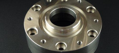 鉄/S45C/流体計測用フランジ/NC旋盤加工