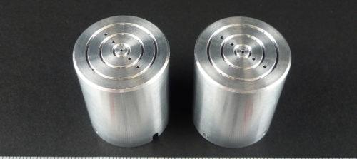 アルミ/A5052/NC旋盤加工/放電加工