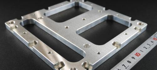 アルミ/A5052/フライス・マシニング加工/設備部品 プレート